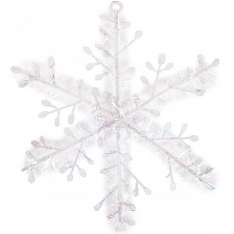 Украшение «Снежинка» белая 11 см 997-11, фото 2