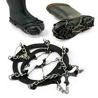 ЛУЧШАЯ ЦЕНА! Ледоходы для обуви - цепные на 8 шипов, 1001343, ледоходы для обуви, ледоходы, ледоступы, шипы на подошве, ледоходы для обуви украина