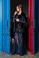 Женский жакет из эко меха Tissavel (Франция) 020 черный