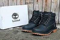 Мужские ботинки TimberlandClassic 6 inch Black Winter (Тимберленд) черные