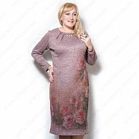 Женское платье большого размера с розами