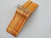 Плечики вешалки  тремпеля деревянные ровные, 44 см, 10 штук в упаковке