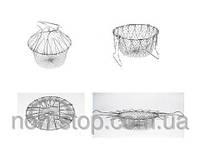 ТОП ВЫБОР! Дуршлаг Chef Basket  - 1000136 - дуршлаг для фритюра, универсальный дуршлаг, фритюрница дуршлаг, Chef Basket, сито кухонное,
