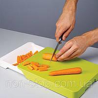 Разделочная доска для продуктов Cut & Collect с выдвижным отсеком, Cut & Collect, доска разделочная с отсеком, доска разделочная складная, кухонная