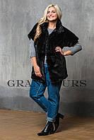 Женский жакет из эко меха Tissavel (Франция) 021 черный