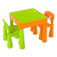 Комплект Tega MAMUT стол+2 стула MT-001 899 green/orange, детские столики и стульчики