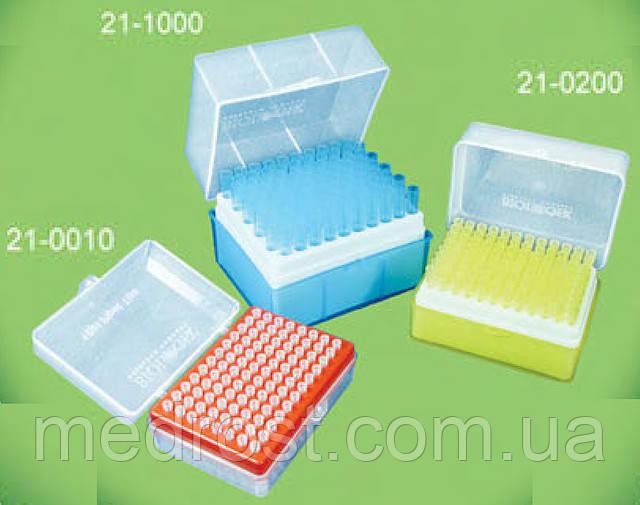 Наконечники для дозаторов 200мкл,стерильные, без фильтра, свободный ДНК РНК (для автоклав)