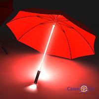 ТОП ВЫБОР! Зонт трость, зонт-трость, зонт с подсветкой, Зонт  «Джедайский», Зонт-трость женский, купить необычный и оригинальный зонт, зонт трость с