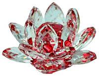 Хрустальный лотос цветной, 125х125х60
