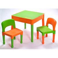 Комплект Tega стол+2 стула MT-003 698 green/orange, детские столики и стульчики