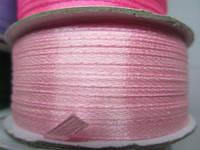 Лента атлас 0,3 см нежно-розовая. Заказ от 10 м