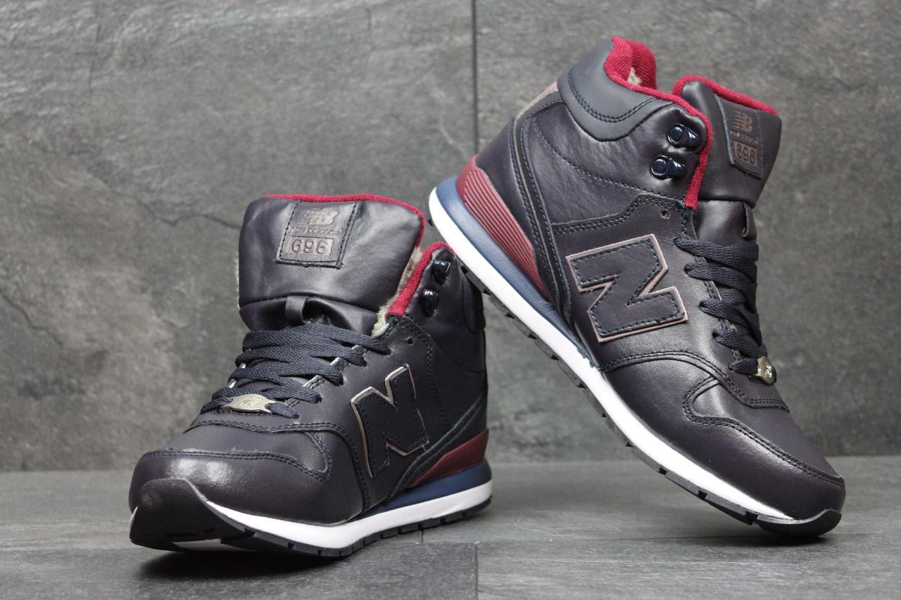 8a9e453416e9 New Balance 696 зимние подростковые кроссовки синие США (Реплика ААА+) -  bonny-