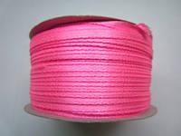 Лента атлас 0,3 см ярко-розовая. Заказ от 10 м