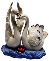 Статуэтка лебеди из фарфора,  100х100х70