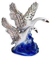 Статуэтка лебеди из фарфора, 210х240х200