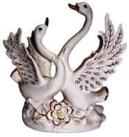 Статуэтка лебеди из фарфора, 300х300х110