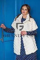 Женский жакет из эко меха Tissavel (Франция) 023 белый 42-54рр