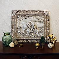 Барельеф Семья слонов светящийся в темноте Гранд Презент КР 906 камень светит