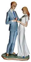 Статуэтка жених с невестой из фарфора, 140х270х90