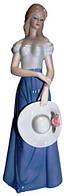 Статуэтка девушка из фарфора, 100х300х80