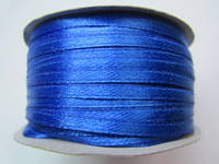 Лента атлас 0,3 см синий электрик. Заказ от 10 м