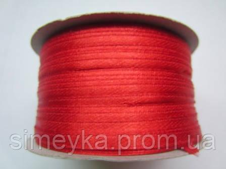 Лента атлас 0,3 см красный. Заказ от 10 м