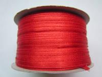 Лента атлас 0,3 см красный. Заказ от 10 м, фото 1