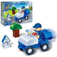 Детский конструкторполицейский транспорт BANBAO 9605, 9 дет, фигурка, в кор-ке, 23-15-5см