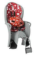 Комплект велокресло детское Hamax Kiss серое/красное + шлем