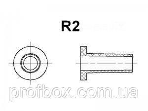 Гнучкий ввід для корпуса РЕА №2 (посад.отв.ф6.5мм, вн.R2мм), чорний