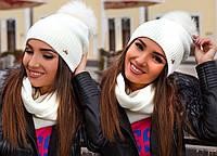 Шапка женская в наборе с шарфом