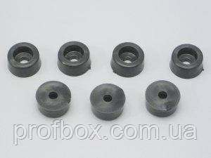 Ніжка гумова для корпуса РЕА, №1 (ф9/ф10, h6 мм), чорний
