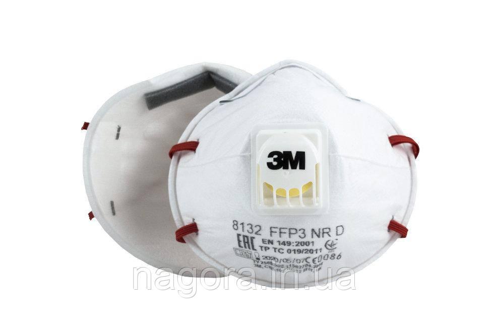 3M™ 8132 Полумаска фильтрующая (респиратор) противоаэрозольная  (с клапаном выдоха)