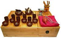 Чабань с набором для чайной церемонии, чайник 100 мл, чахай 100мл, чайные пары 40 мл, приборы, 455х110х290