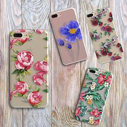 Чехлы для Samsung Galaxy J7 2016 (J710h) силикон цветы