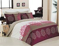 Комплект постельного белья двуспальный-евро Majoli Bahar teksil Valentina v2 Bordo B08