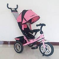 Трехколесный велосипед Turbo Trike, резиновые колеса, Розовый