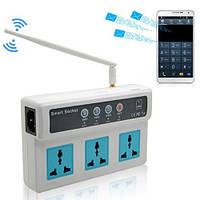 Умная GSM розетка-тройник с управлением по SIM-карте, тройная GSM розетка