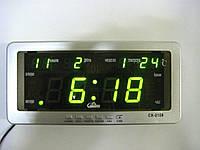 Електронний годинник Caixing CX-2158 з календарем і термометром, годинник з термометром, годинник з градусником, годинник з календарем, 1001067