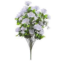 Букет искусственных цветов С - 26 В /36 роза раскрытая с гипсофилом