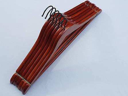 Плечики деревянные коричневого цвета, 44,5 см, 6 штук в упаковке