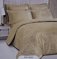 Жаккардовое постельное белье евро размера Deco Bianca KUS YESILI