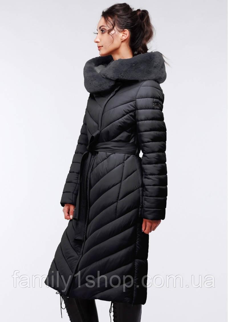Длинное стеганное пальто женское зимнее. - Familyshop в Хмельницком bce2048aafacc