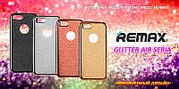 Силиконовый чехол Remax Glitter Air Series for iPhone 4 Gold