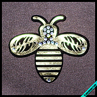Термошевроны для бизнеса на пеньюары Пчела [Свой размер и материалы в ассортименте]