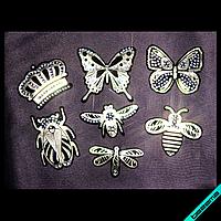 Нашивки для бизнеса на туфли термо Набор модные насекомые