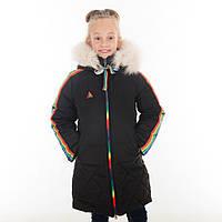 """Зимняя куртка для девочки """"Анастасия"""", 34-44 размеры, цвет черный"""