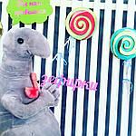 Семья ждунов: розовый, голубой, серый, зеленый ждун (4 шт. - 20 см.), фото 3
