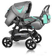 Коляска-трансформер Trans Baby Яся 39/x99 Light Grey / Turquoise