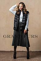 Женский жилет из эко меха Tissavel (Франция) 580 черный 42-54рр